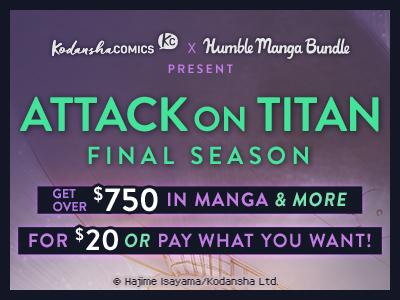 Attack on Titan Humble Manga Bundle Now Live!